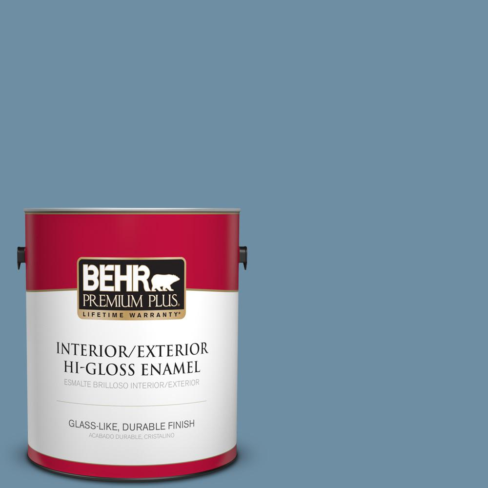 1 gal. #PPU14-04 French Court Hi-Gloss Enamel Interior/Exterior Paint