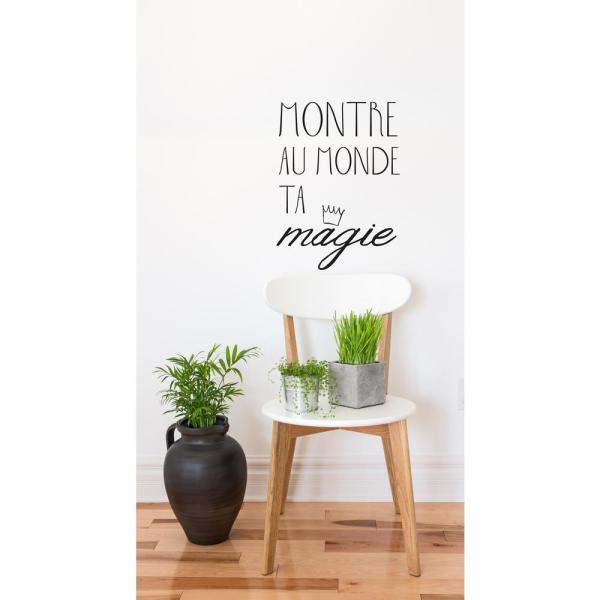Wall Stickers Mondo.Adzif 14 9 In X 20 3 In Montre Ta Magie Wall Decal T3160