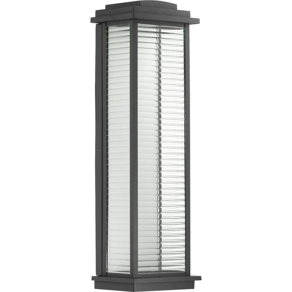 Progress Lighting Northampton 9-Watt Black 22 in. Outdoor Integrated LED Wall Mount Lantern