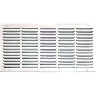 30 in. x 14 in. Return Air Vent Grille, White with Fixed Blades