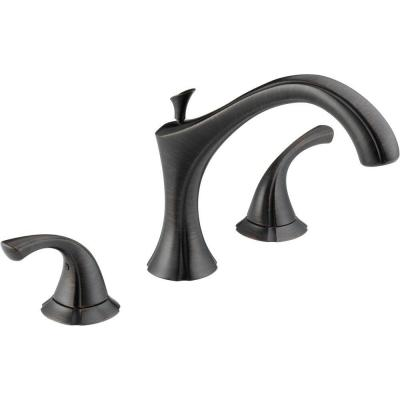 Addison 2-Handle Deck-Mount Roman Tub Faucet Trim Kit Only in Venetian Bronze (Valve Not Included)