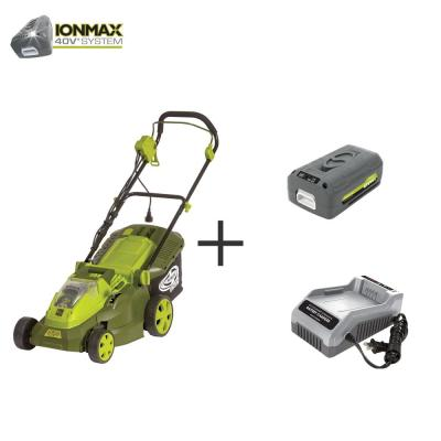 15 in. 40-Volt Hybrid Battery Walk Behind Push Mower Kit with 4.0 Ah Battery + Charger