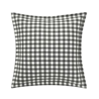 Kingston Charcoal Plaid Cotton Blend Decorative Sham (Set of 2)