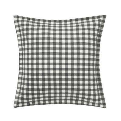 Kingston Charcoal Cotton Flannel Euro Sham (Set of 2)