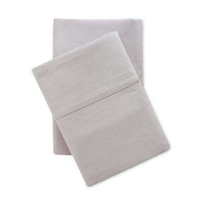Solid Brushed 100% Cotton Micro Chip Queen Sheet Set
