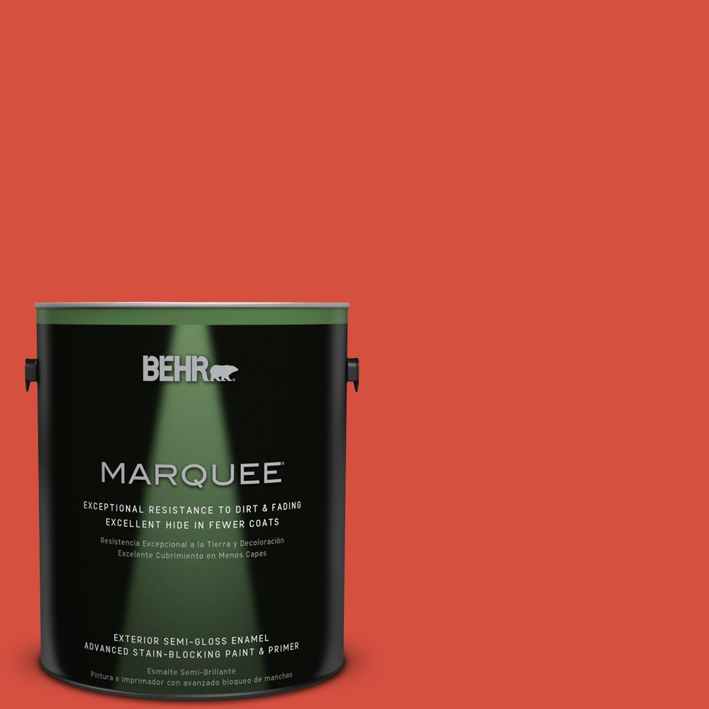 1 gal. #T18-12 Spirit Warrior Semi-Gloss Enamel Exterior Paint