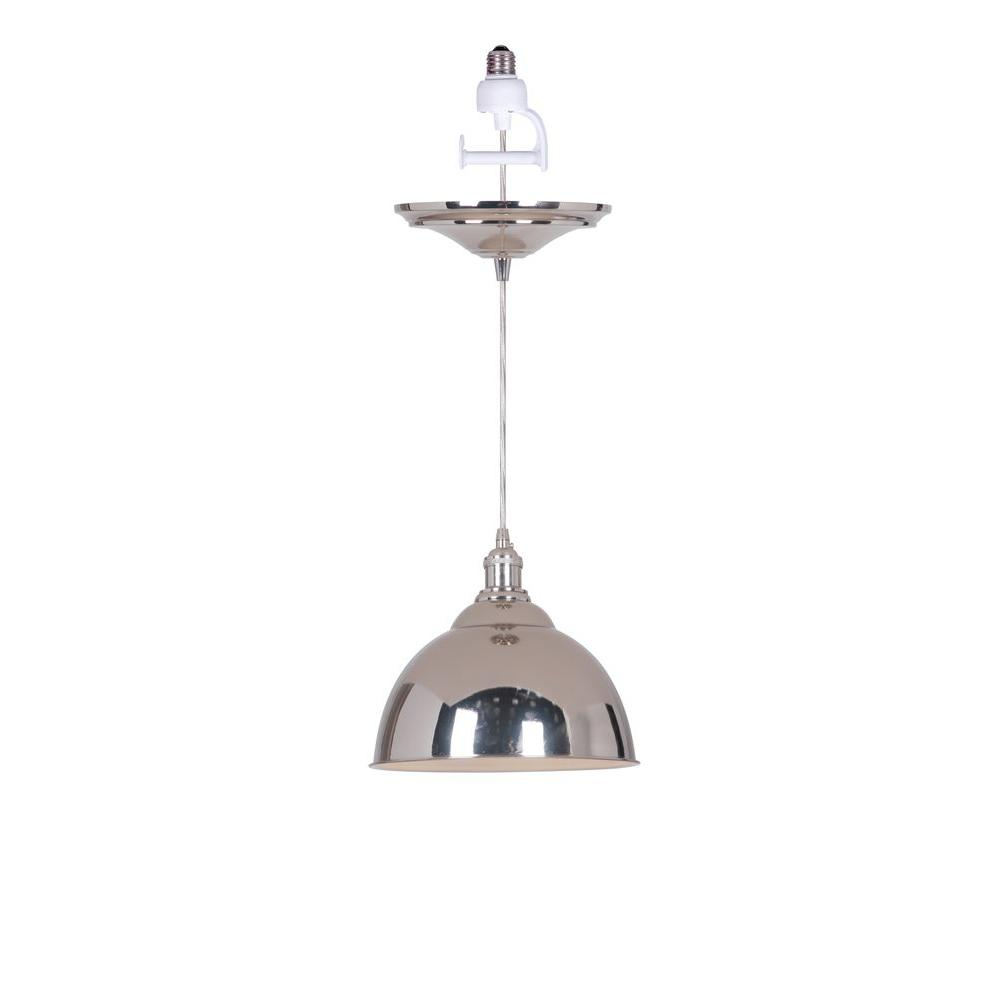 Worth Home Instant Pendant Series 1-Light Polished Nickel...