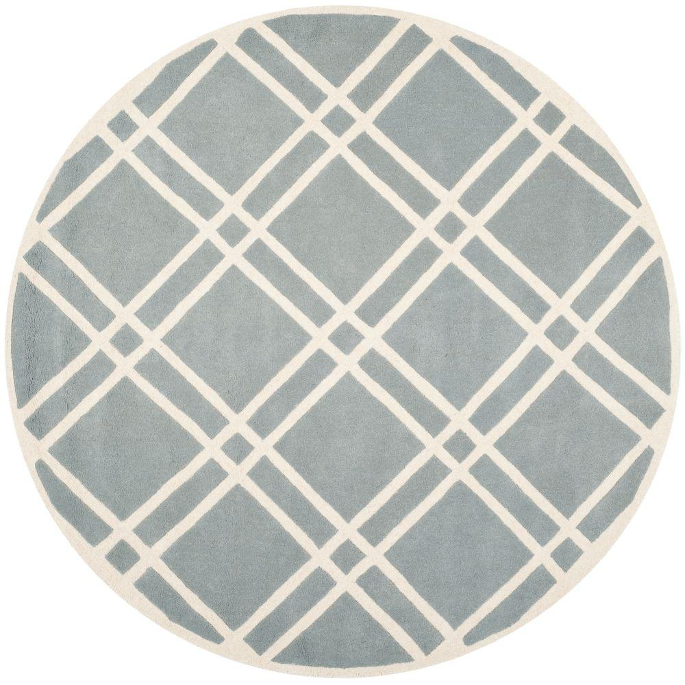 Chatham Blue/Ivory 7 ft. x 7 ft. Round Area Rug