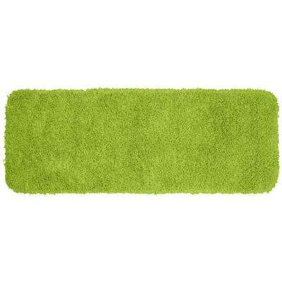 Jazz Lime Green 22 in. x 60 in. Washable Bathroom Accent Rug