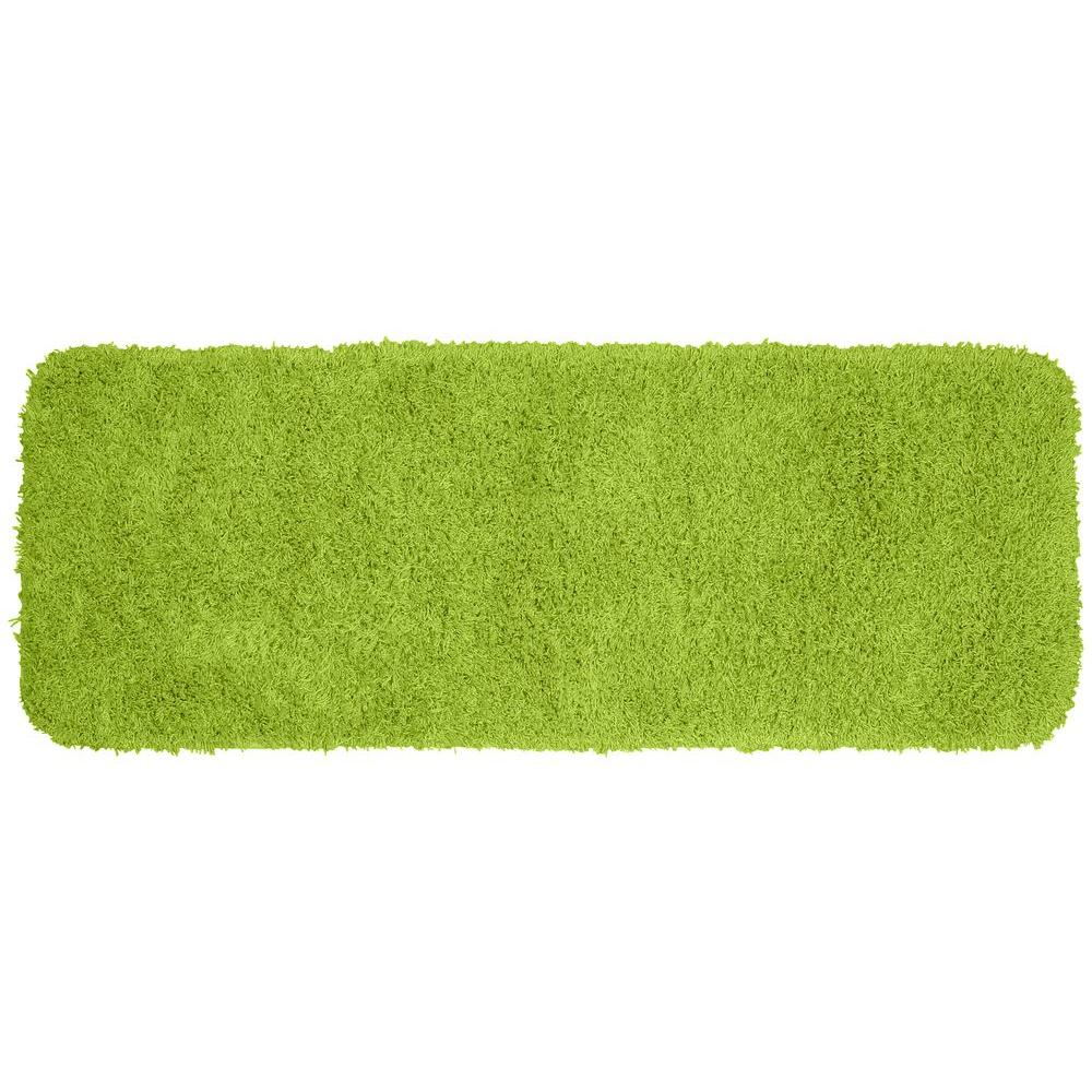 Garland Rug Jazz Lime Green 22 in. x 60 in. Washable Bathroom Accent Rug