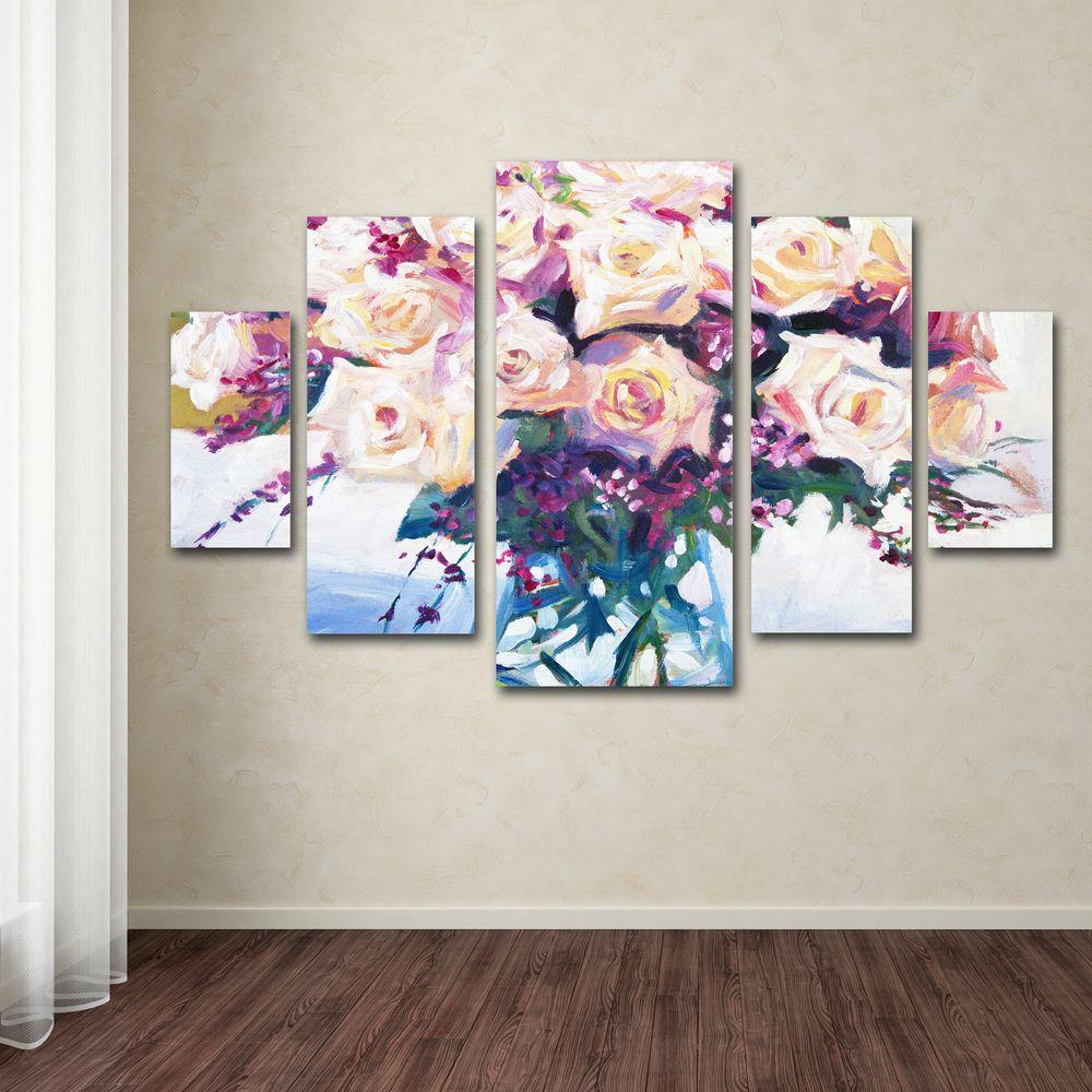 Trademark Fine Art Roses in Glass by David Lloyd Glover 5-Panel Wall Art Set & Trademark Fine Art Roses in Glass by David Lloyd Glover 5-Panel Wall ...