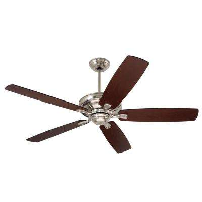 Carrera 60 in. Brushed Steel Ceiling Fan