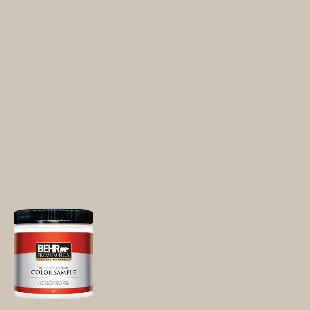 BEHR Premium Plus 8 oz. #ECC-14-1 Scenic Path Interior/Exterior Paint Sample