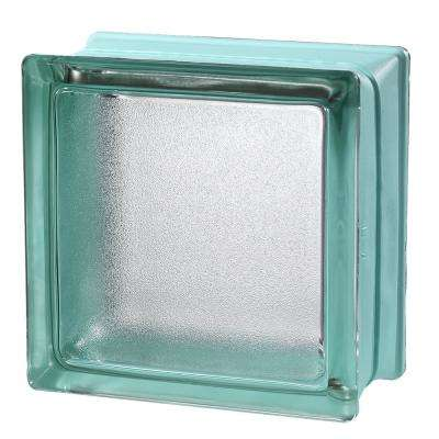 Mint 5.75 in. x 5.75 in. x 3.15 in. Classic Turquoise Glass Block (6-Pack)