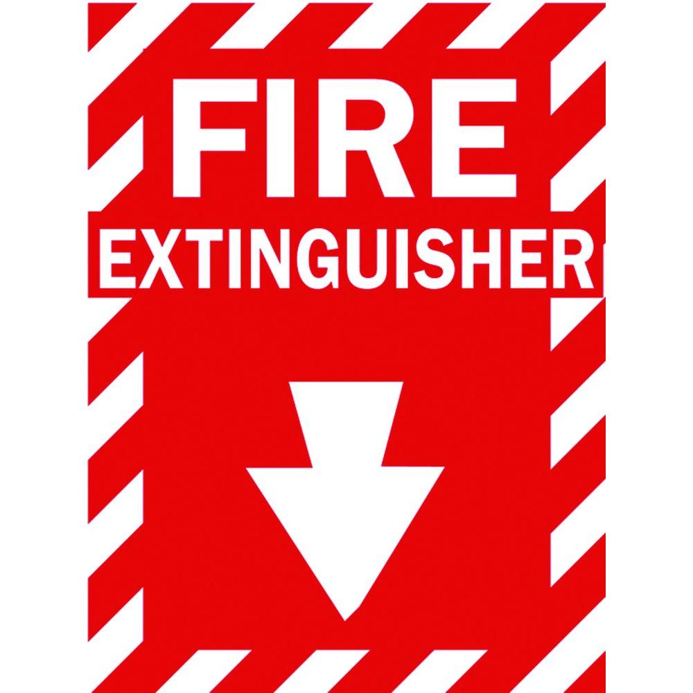Brady 14 In X 10 In Fiberglass Fire Extinguisher Sign