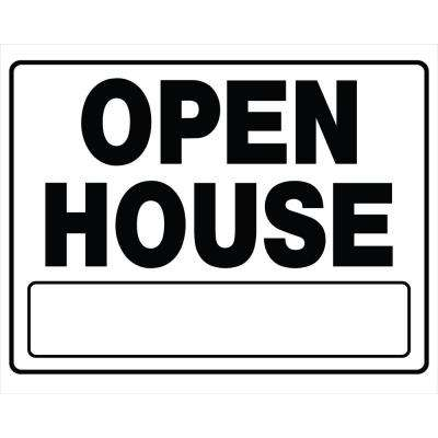 20 in. x 24 in. Corrugated Plastic Open House Sign