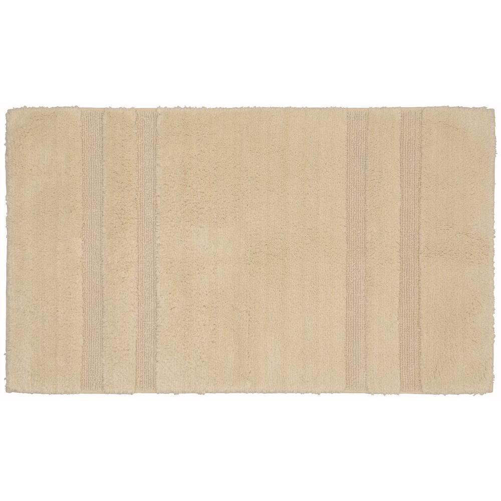 Garland Rug Majesty Cotton Natural 24 in. x 40 in. Washable Bathroom Accent Rug