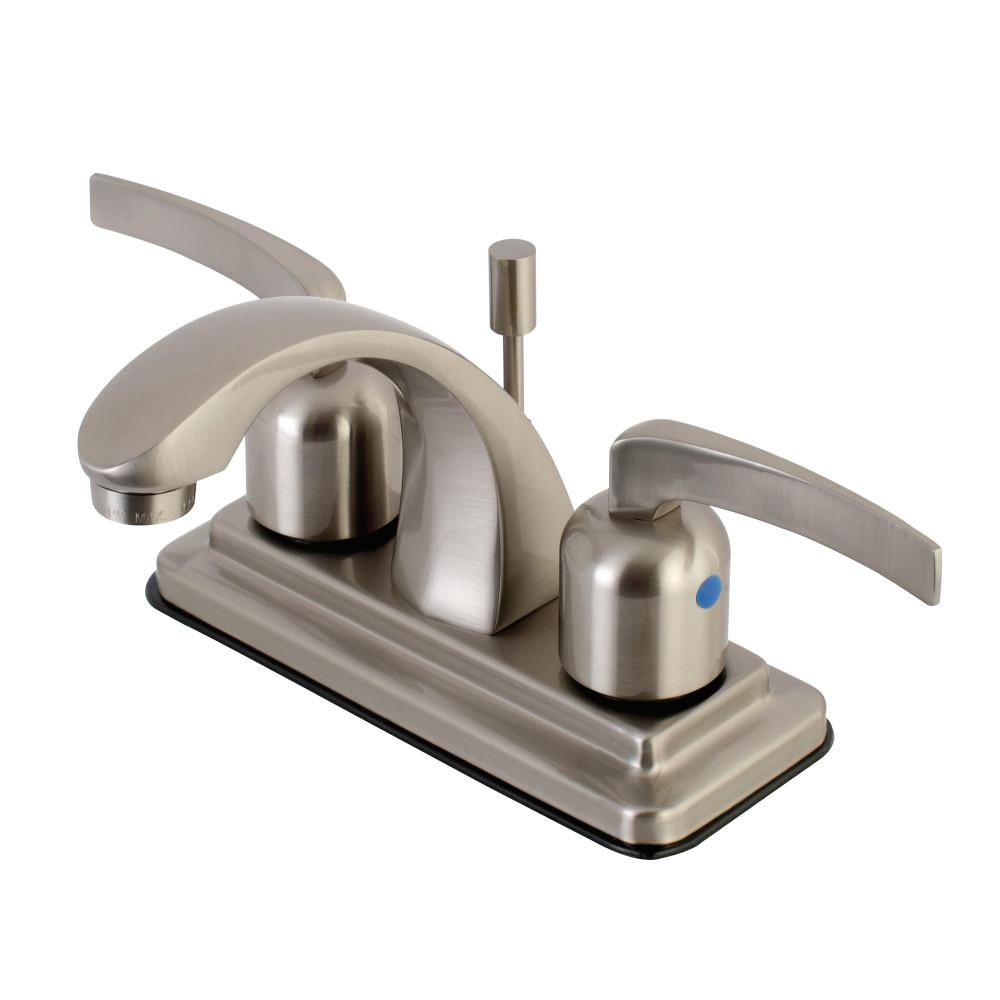 Kingston Brass 4 in. Centerset 2-Handle Bathroom Faucet in Brushed Nickel