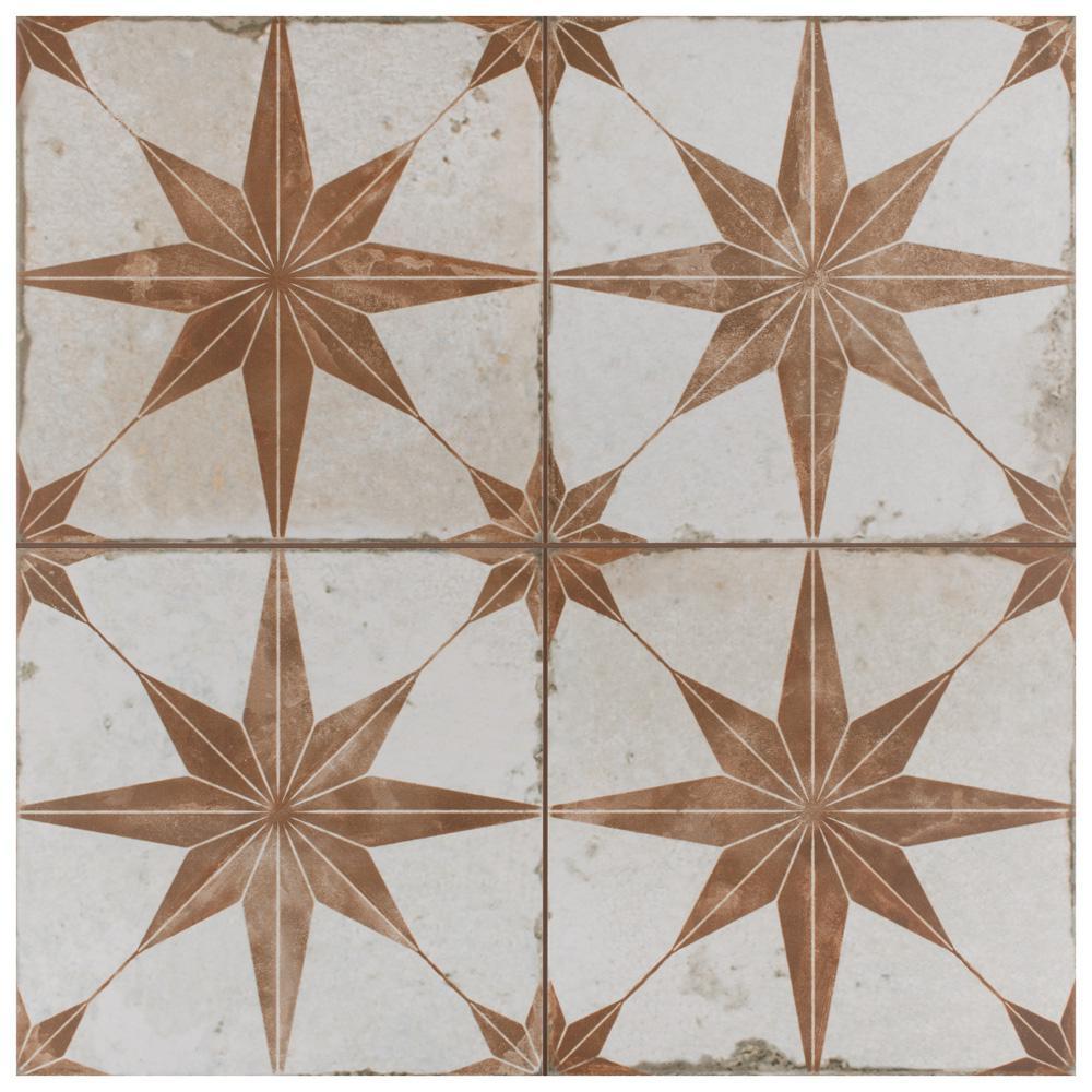 Kings Star Oxide 17-5/8 in. x 17-5/8 in. Ceramic F/W Tile