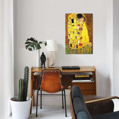 """40 in. x 26 in. The Kiss by """"Gustav Klimt"""" Printed Canvas Wall Art"""
