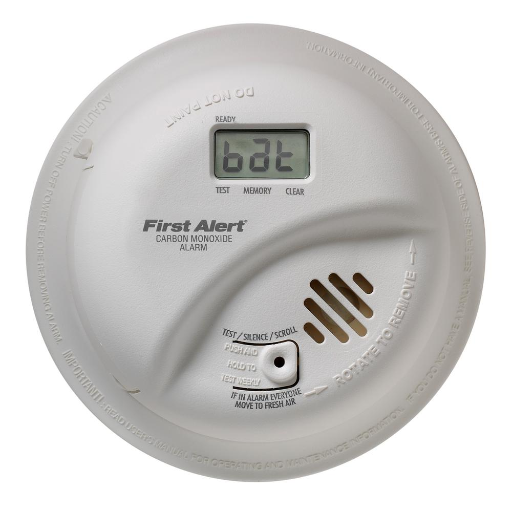 Co Smoke Combination Detectors Fire Safety The Home Depot 3 Wire Detector Wiring Diagram Hardwired Interconnected Carbon Monoxide Alarm With Battery Backup