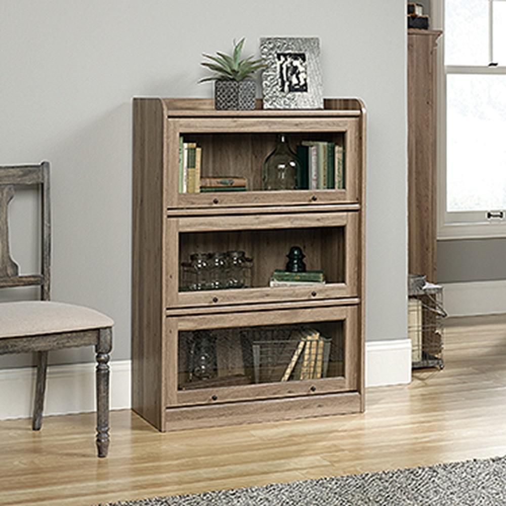 Barrister Lane Salt Oak 3-Door Bookcase