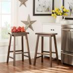 undefined 29 in. Warm Cherry Bar Stool (Set of 2)