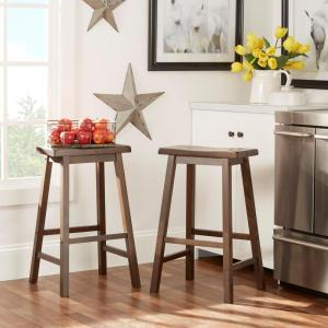 29 inch Warm Cherry Bar Stool (Set of 2) by
