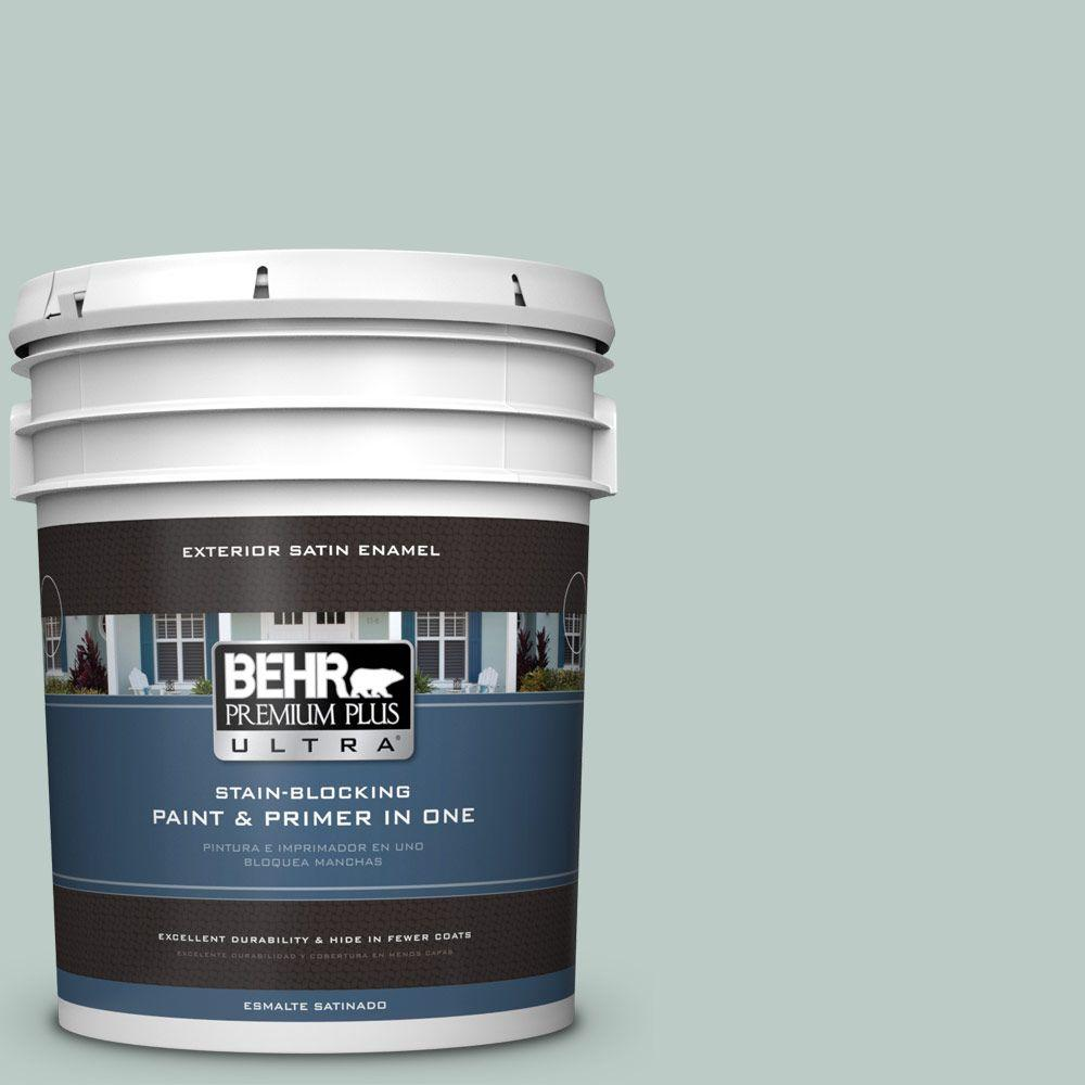 BEHR Premium Plus Ultra Home Decorators Collection 5-gal. #HDC-CL-23 Soothing Spring Satin Enamel Exterior Paint