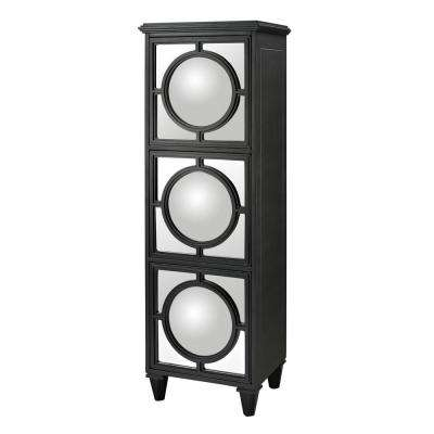 Mirage Black Accent Cabinet