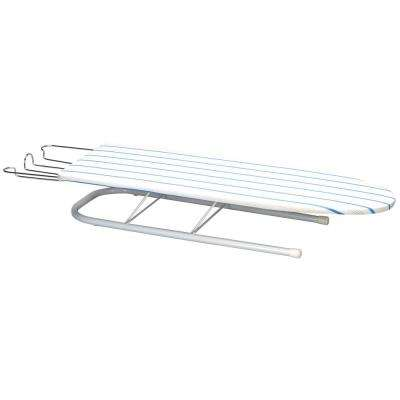 White Table Top Ironing Board with April Stripe Cover