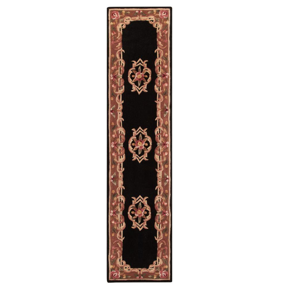 Home Decorators Collection Calais Black 2 Ft 3 In X 10 Ft Rug Runner Calais Black The Home