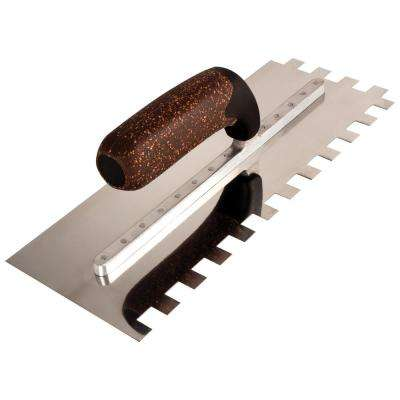 1/2 in. x 1/2 in. x 1/2 in. X-Treme Series XC12 Square Notch Flooring Trowel