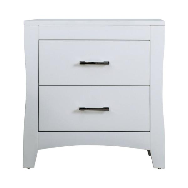 Merveilleux Furniture Of America Stratsburg 2 Drawer White Nightstand