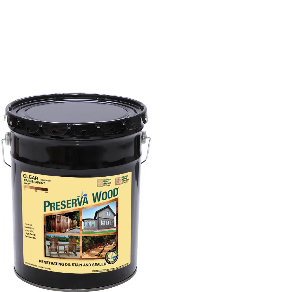 Preserva Wood 5 gal. Clear Penetrating Oil-Based Exterior Stain and ...