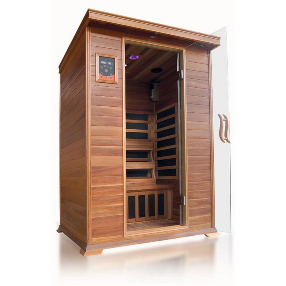 Sierra 2-Person Cedar Infrared Sauna