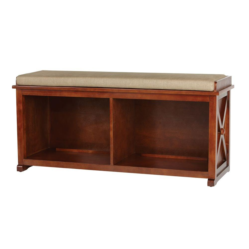 Home Decorators Collection Brexley Entryway Bench in Chestnut-DISCONTINUED