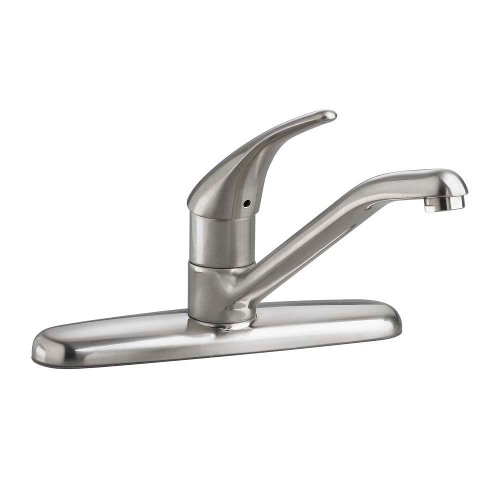 American Standard Colony Soft Single-Handle Standard Kitchen Faucet 1.5 gpm in Stainless Steel