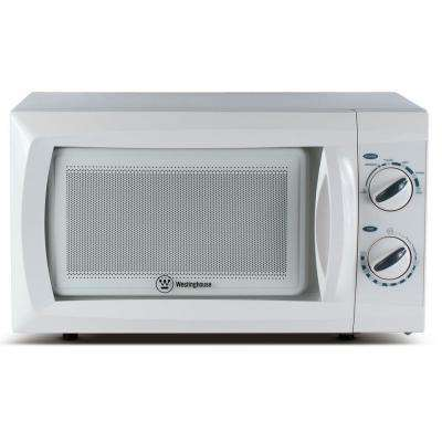 0.6 cu. ft. Built-In Microwave Oven in White