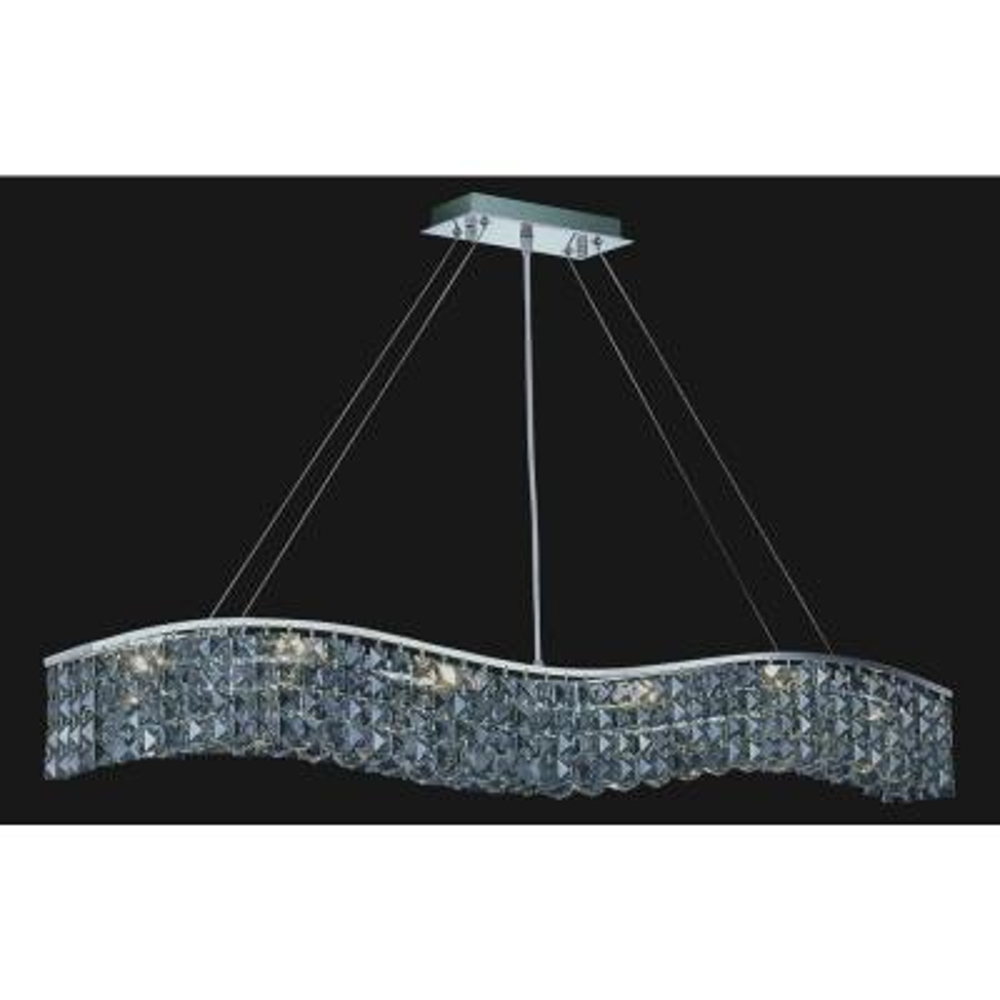 Glamorous 7-light chrome chandelier