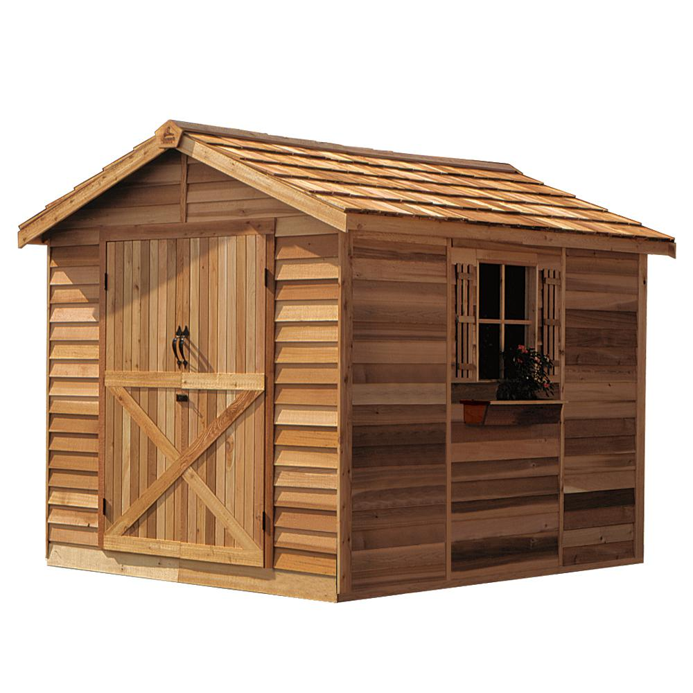 Cedarshed Rancher 8 ft. x 10 ft. Western Red Cedar Garden Shed