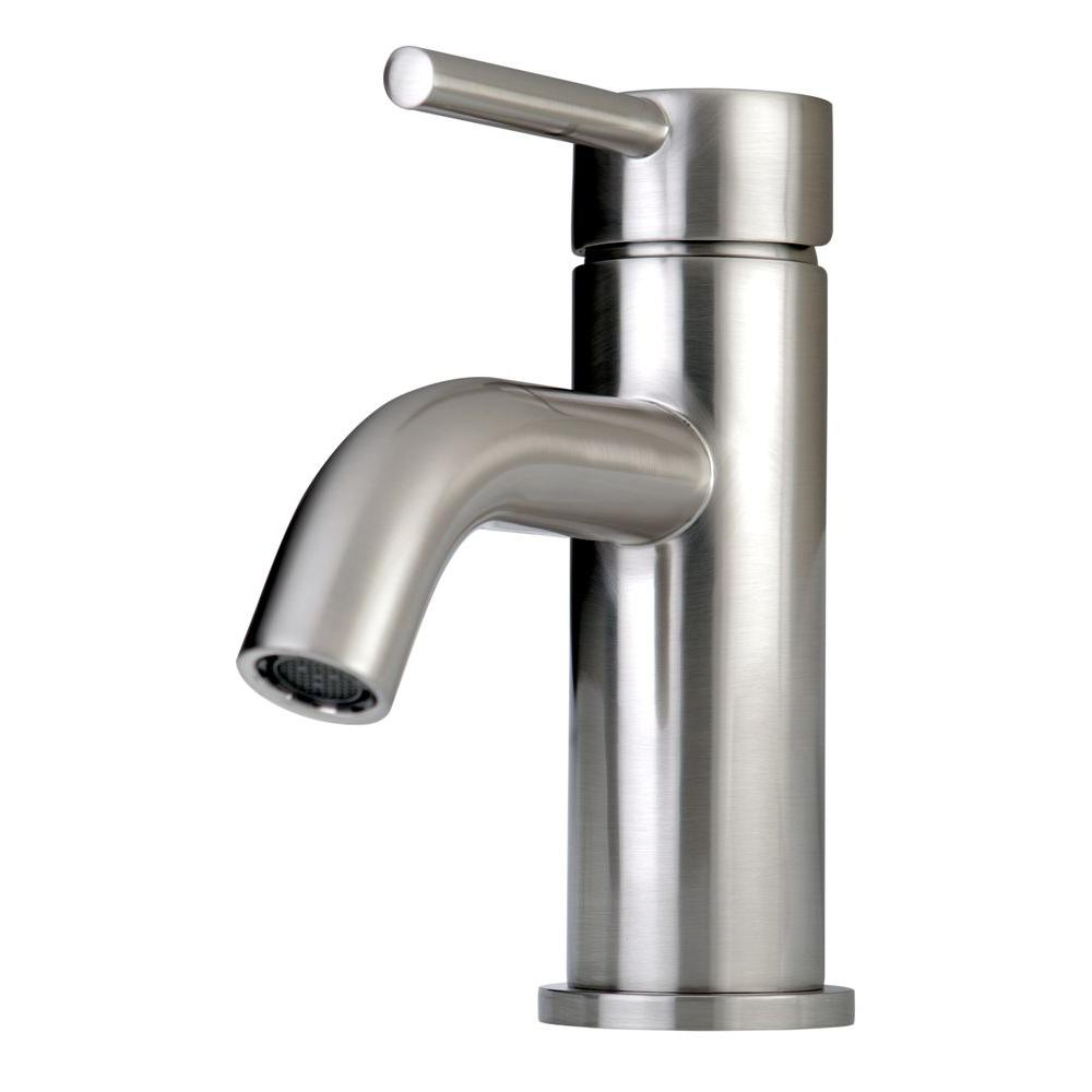 Kingston Br Contemporary Single Hole 1 Handle High Arc Bathroom Faucet In Satin Nickel