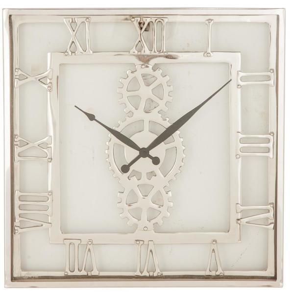Industrial 20 in. x 20 in. Square Wall Clock