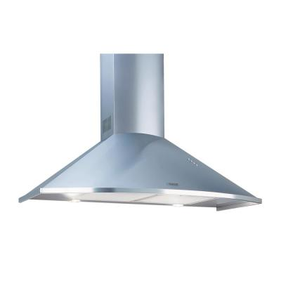 Equator Trapezoidal Wall Mount 36 in. with Timer LED lights 600 CFM Ducted Downdraft Range Hood in Stainless