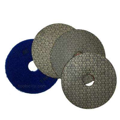 3 in. T-Rex Electroplated Diamond Polishing Pads (Set of 4)