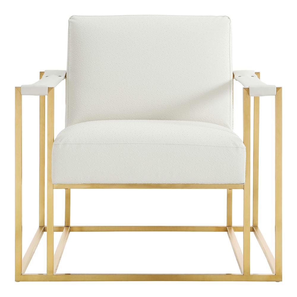 Baxter Cream Gold Ostrich Print Chair