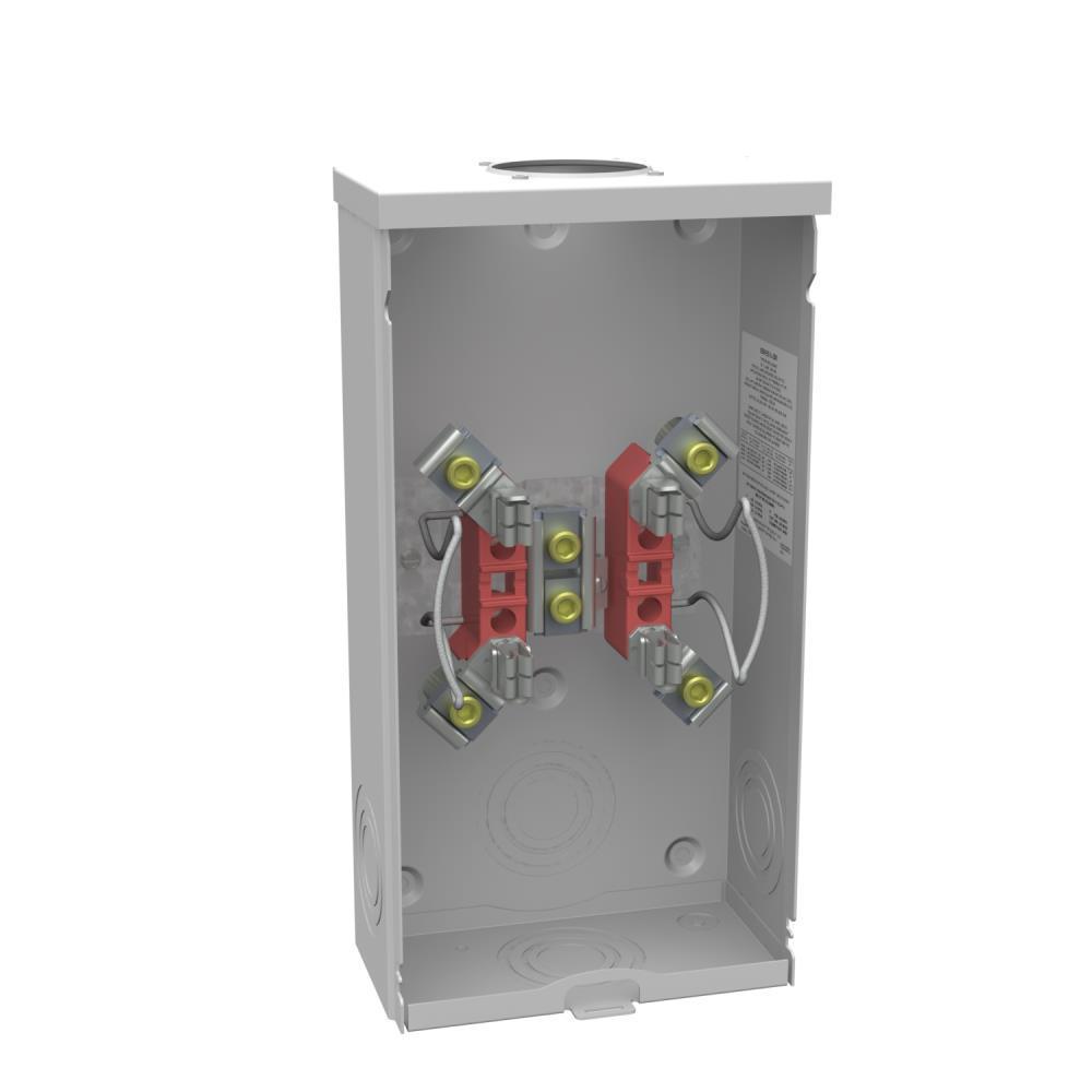 200 Amp 4 Terminal Ringless Overhead Meter Socket