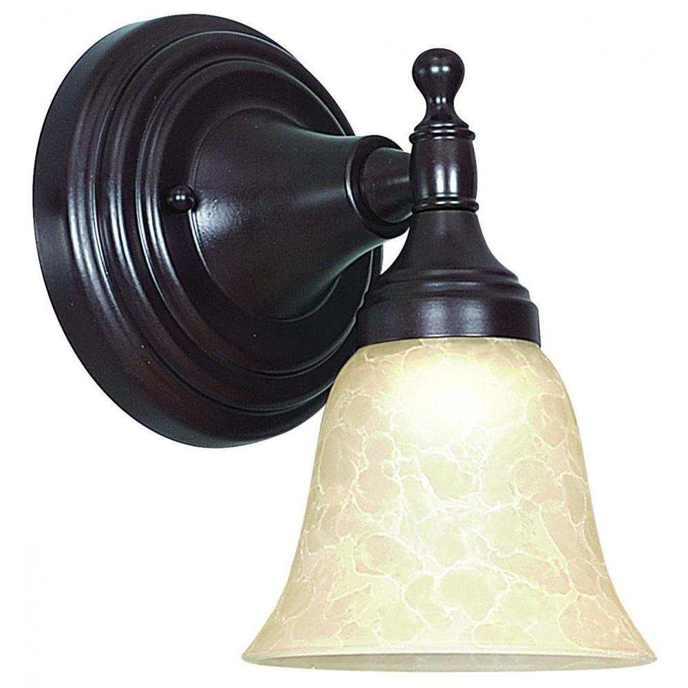 Strickland 1-Light Oil-Rubbed Bronze Sconce