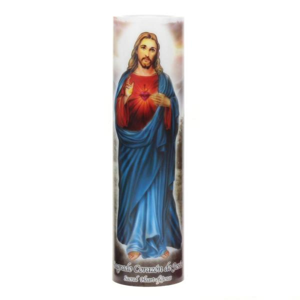 Stonebriar Collection 8 in. Jesus LED Prayer Candle