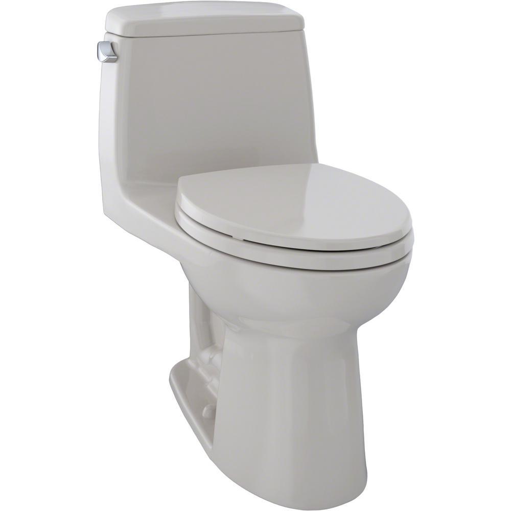TOTO Eco UltraMax 1-Piece 1.28 GPF Single Flush Elongated Toilet in Sedona Beige